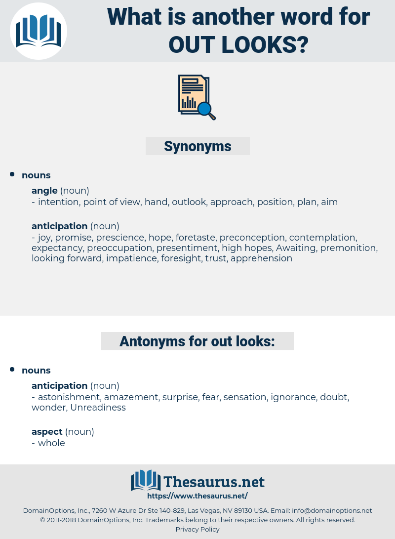out looks, synonym out looks, another word for out looks, words like out looks, thesaurus out looks