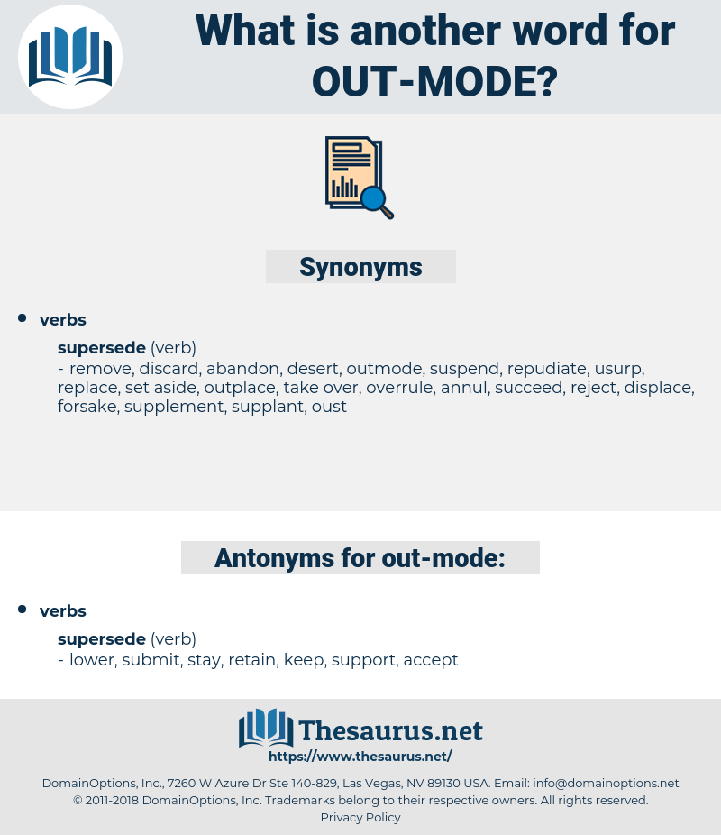 out-mode, synonym out-mode, another word for out-mode, words like out-mode, thesaurus out-mode