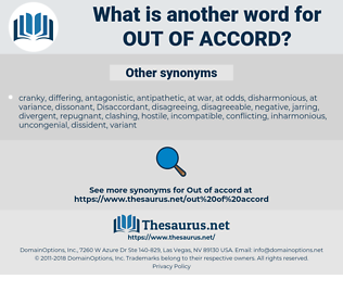 out of accord, synonym out of accord, another word for out of accord, words like out of accord, thesaurus out of accord