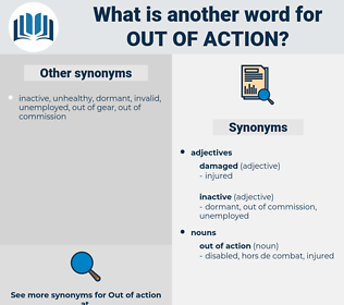 out of action, synonym out of action, another word for out of action, words like out of action, thesaurus out of action