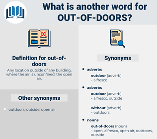 out-of-doors, synonym out-of-doors, another word for out-of-doors, words like out-of-doors, thesaurus out-of-doors