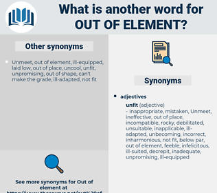 out of element, synonym out of element, another word for out of element, words like out of element, thesaurus out of element