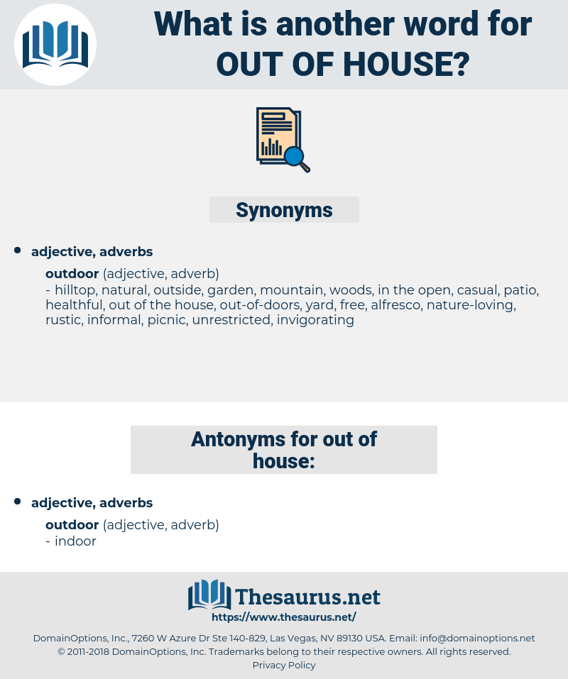 out of house, synonym out of house, another word for out of house, words like out of house, thesaurus out of house