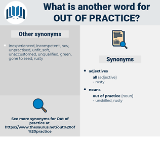 out of practice, synonym out of practice, another word for out of practice, words like out of practice, thesaurus out of practice