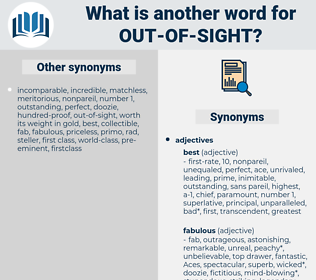 out of sight, synonym out of sight, another word for out of sight, words like out of sight, thesaurus out of sight