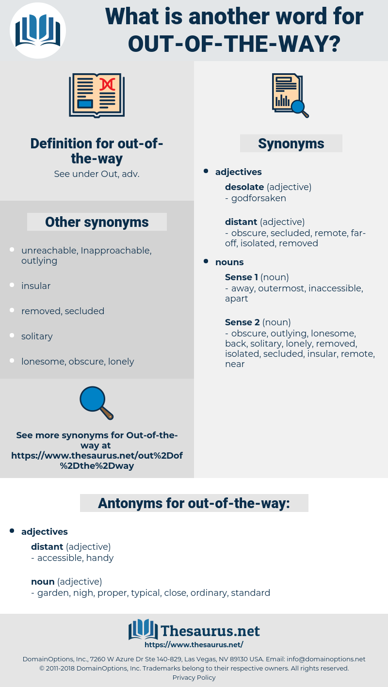 out-of-the-way, synonym out-of-the-way, another word for out-of-the-way, words like out-of-the-way, thesaurus out-of-the-way