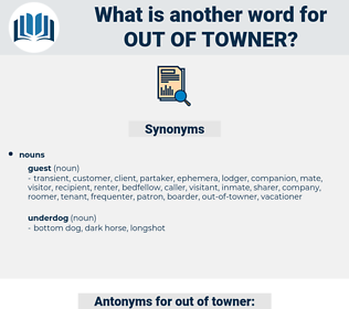 out of towner, synonym out of towner, another word for out of towner, words like out of towner, thesaurus out of towner