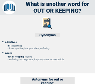 out or keeping, synonym out or keeping, another word for out or keeping, words like out or keeping, thesaurus out or keeping