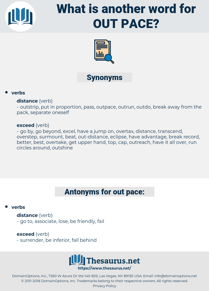 out-pace, synonym out-pace, another word for out-pace, words like out-pace, thesaurus out-pace