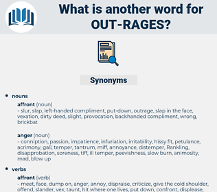 out rages, synonym out rages, another word for out rages, words like out rages, thesaurus out rages