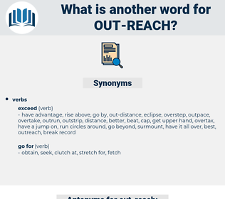 out reach, synonym out reach, another word for out reach, words like out reach, thesaurus out reach