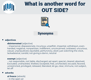 out side, synonym out side, another word for out side, words like out side, thesaurus out side