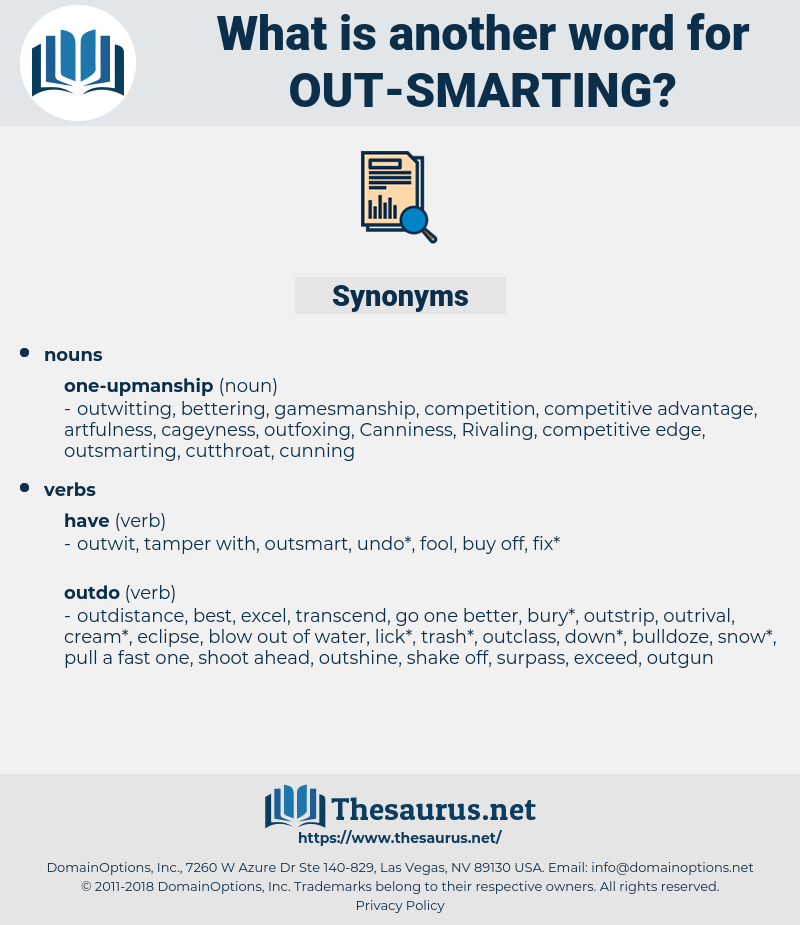 out-smarting, synonym out-smarting, another word for out-smarting, words like out-smarting, thesaurus out-smarting