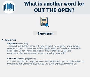 out the open, synonym out the open, another word for out the open, words like out the open, thesaurus out the open