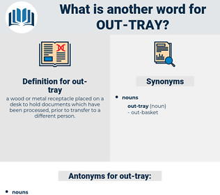 out-tray, synonym out-tray, another word for out-tray, words like out-tray, thesaurus out-tray