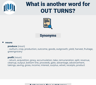 out turns, synonym out turns, another word for out turns, words like out turns, thesaurus out turns