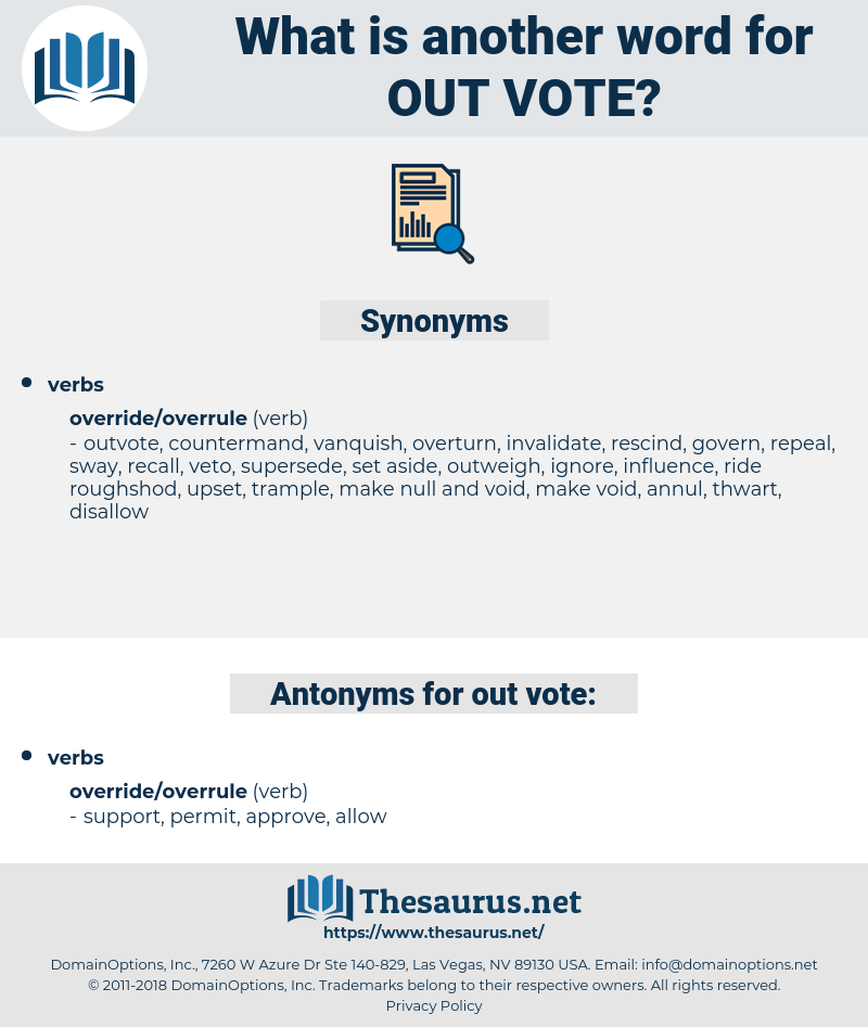 out vote, synonym out vote, another word for out vote, words like out vote, thesaurus out vote