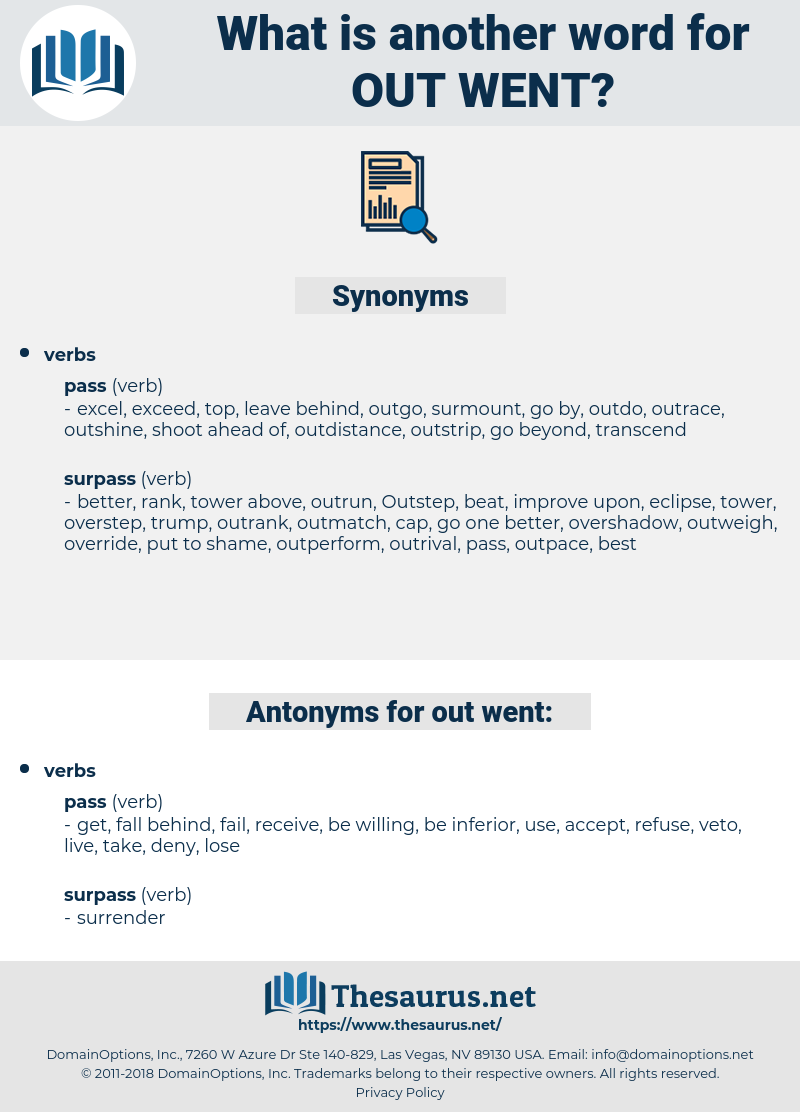 out-went, synonym out-went, another word for out-went, words like out-went, thesaurus out-went