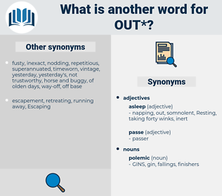 out, synonym out, another word for out, words like out, thesaurus out