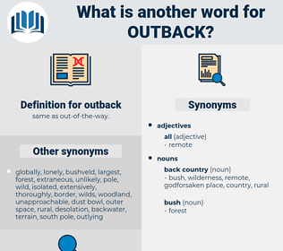 outback, synonym outback, another word for outback, words like outback, thesaurus outback