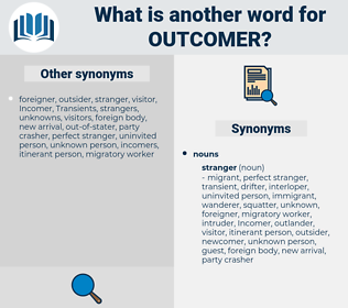 outcomer, synonym outcomer, another word for outcomer, words like outcomer, thesaurus outcomer