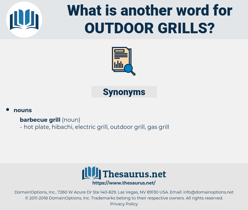 outdoor grills, synonym outdoor grills, another word for outdoor grills, words like outdoor grills, thesaurus outdoor grills