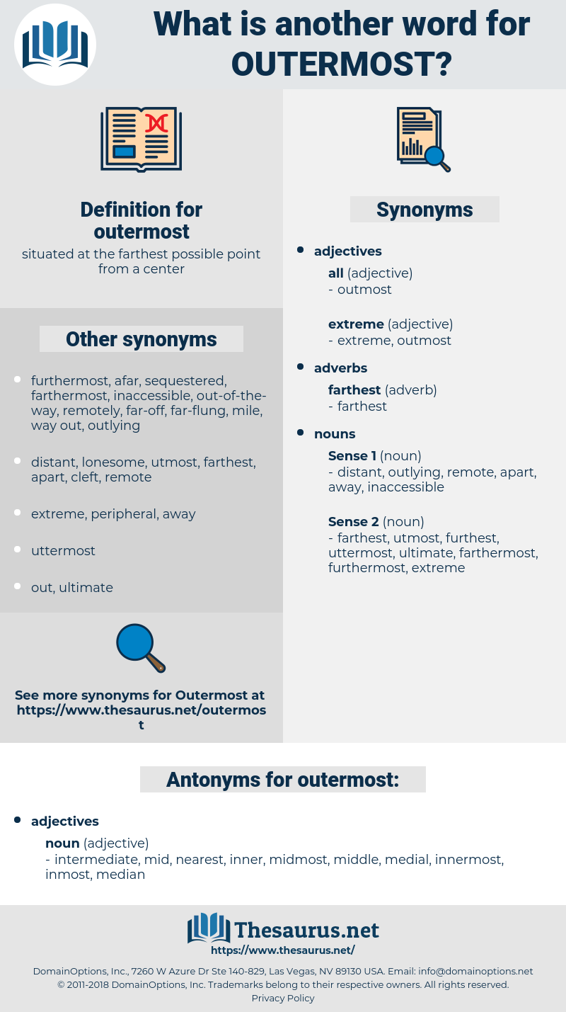 outermost, synonym outermost, another word for outermost, words like outermost, thesaurus outermost