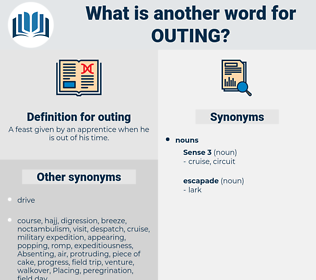 outing, synonym outing, another word for outing, words like outing, thesaurus outing