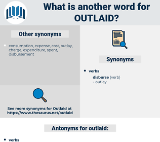 outlaid, synonym outlaid, another word for outlaid, words like outlaid, thesaurus outlaid