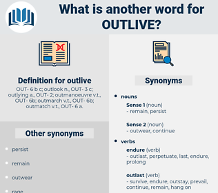 outlive, synonym outlive, another word for outlive, words like outlive, thesaurus outlive