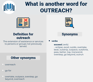 outreach, synonym outreach, another word for outreach, words like outreach, thesaurus outreach