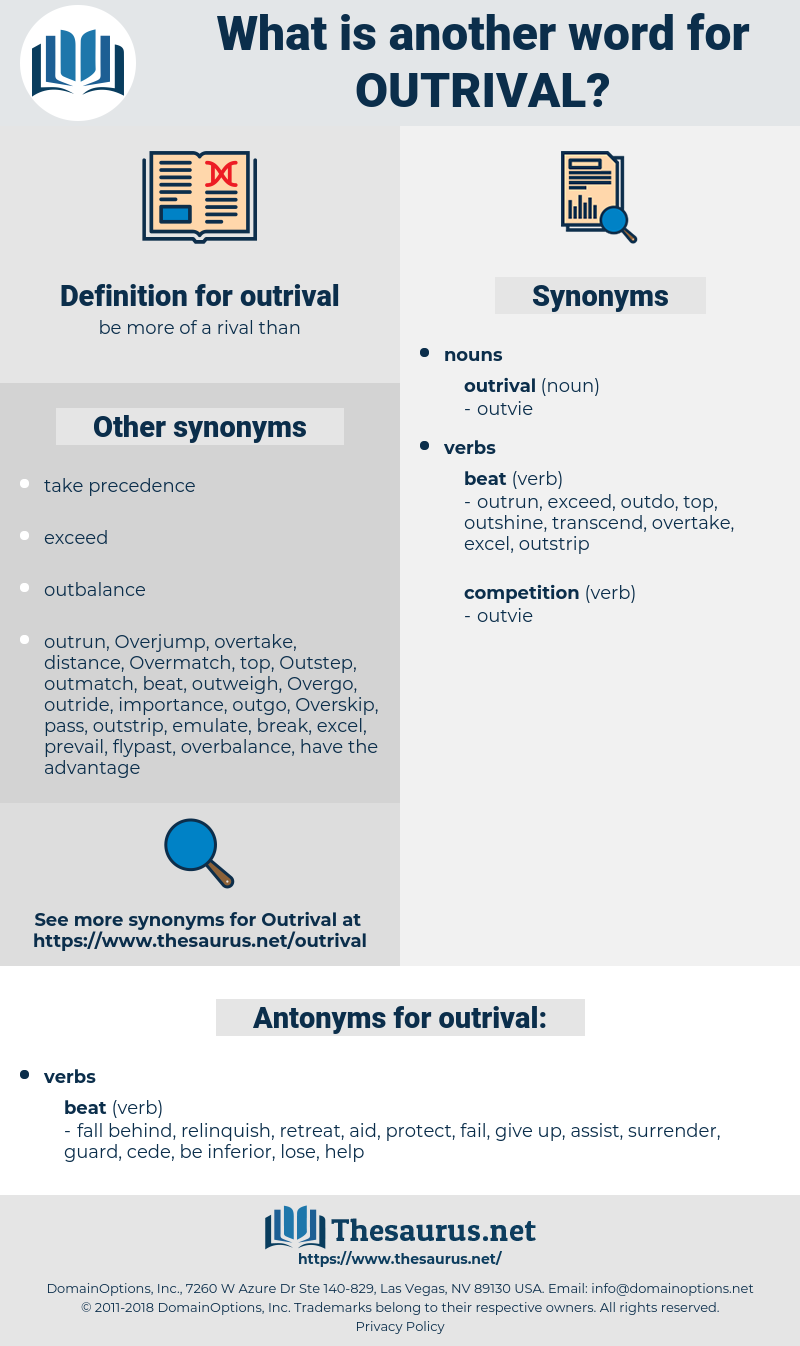 outrival, synonym outrival, another word for outrival, words like outrival, thesaurus outrival