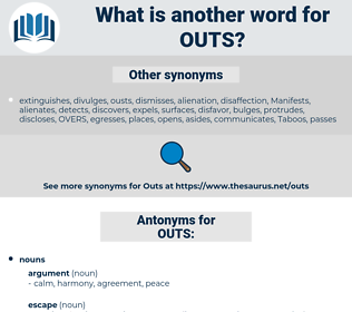 OUTS, synonym OUTS, another word for OUTS, words like OUTS, thesaurus OUTS