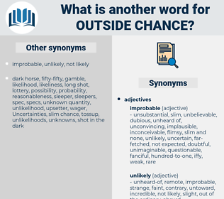 outside chance, synonym outside chance, another word for outside chance, words like outside chance, thesaurus outside chance