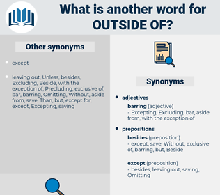 outside of, synonym outside of, another word for outside of, words like outside of, thesaurus outside of