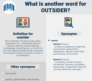 outsider, synonym outsider, another word for outsider, words like outsider, thesaurus outsider