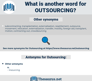 Outsourcing, synonym Outsourcing, another word for Outsourcing, words like Outsourcing, thesaurus Outsourcing