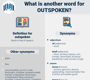 outspoken, synonym outspoken, another word for outspoken, words like outspoken, thesaurus outspoken