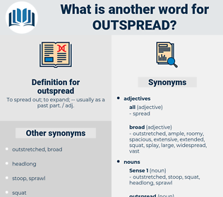 outspread, synonym outspread, another word for outspread, words like outspread, thesaurus outspread