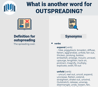 outspreading, synonym outspreading, another word for outspreading, words like outspreading, thesaurus outspreading