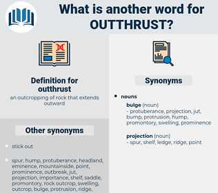 outthrust, synonym outthrust, another word for outthrust, words like outthrust, thesaurus outthrust