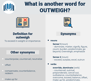 outweigh, synonym outweigh, another word for outweigh, words like outweigh, thesaurus outweigh