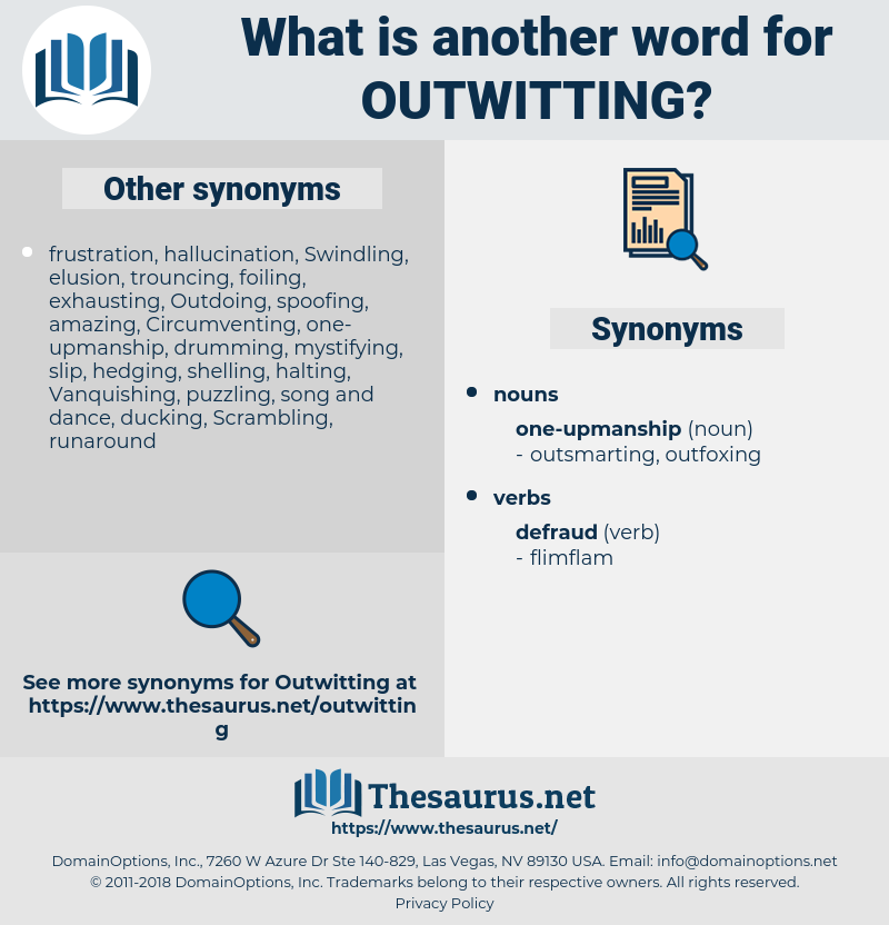outwitting, synonym outwitting, another word for outwitting, words like outwitting, thesaurus outwitting