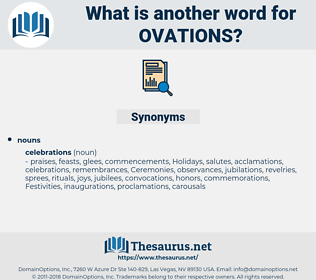 ovations, synonym ovations, another word for ovations, words like ovations, thesaurus ovations