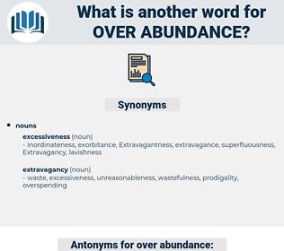 over abundance, synonym over abundance, another word for over abundance, words like over abundance, thesaurus over abundance