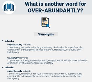 over-abundantly, synonym over-abundantly, another word for over-abundantly, words like over-abundantly, thesaurus over-abundantly