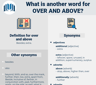 over and above, synonym over and above, another word for over and above, words like over and above, thesaurus over and above