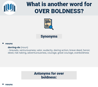 over boldness, synonym over boldness, another word for over boldness, words like over boldness, thesaurus over boldness