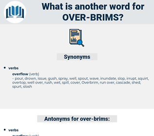 over brims, synonym over brims, another word for over brims, words like over brims, thesaurus over brims