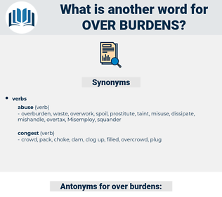over burdens, synonym over burdens, another word for over burdens, words like over burdens, thesaurus over burdens